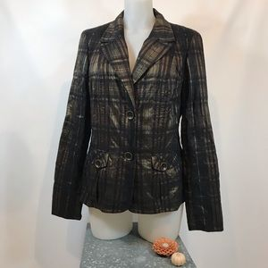TRIBAL NWT Plaid Fitted Blazer